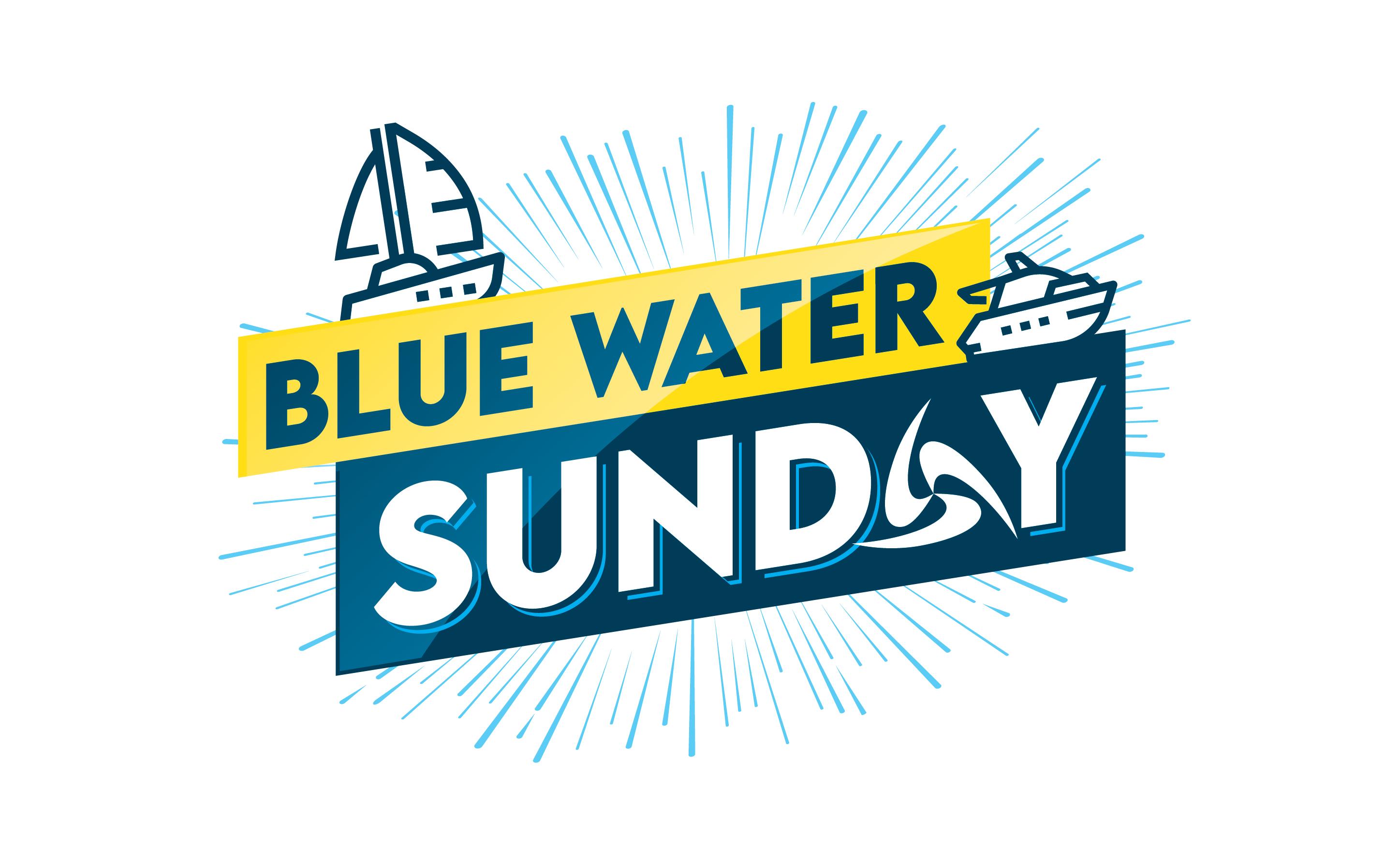 Logo blue water sunday