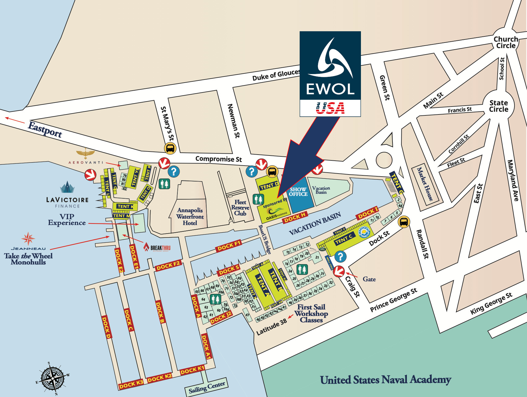 2021 usss show map con logo ewol usa